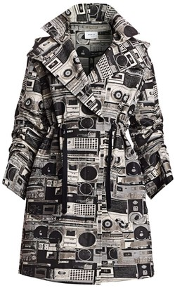 Akris Punto Stereo Print Drawstring Anorak Jacket