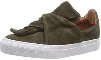 Pavement Women's Ava Loop Slip On Trainers, Green (Green Suede 200 200)