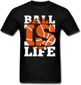 AOO Special design Men's Ball Is Life T-Shirts Black M