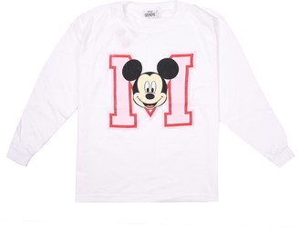 Disney Girl's Mickey Mouse College Long Sleeve Top