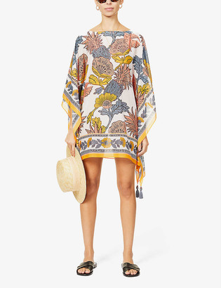 Tory Burch Wonderland floral-print cotton and silk-blend kaftan