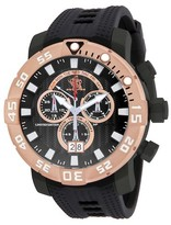Invicta Men's Sea Base 14256 Quartz Multifunction Black Dial Strap Watch - Black