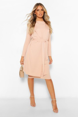 boohoo Sleeveless Belted Duster and Midi Dress Set