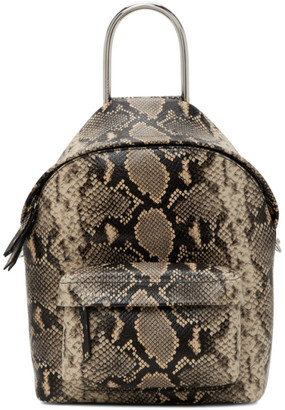 BEIGE Dheygere Black and Python Backpack