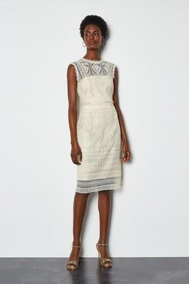 Karen Millen Cutwork Lace Shift Dress