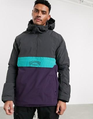 Billabong Stalefish anorak ski jacket gray/purple
