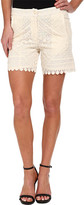 Kas Sibelle Embroidered High Waist Shorts