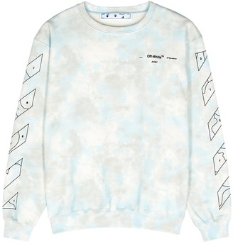 Off-White Tie-dyed cotton sweatshirt