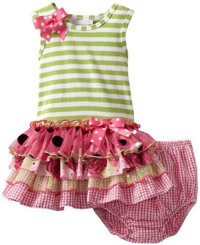 Bonnie Baby Girls Infant Mesh Sparkle Tiers Dress