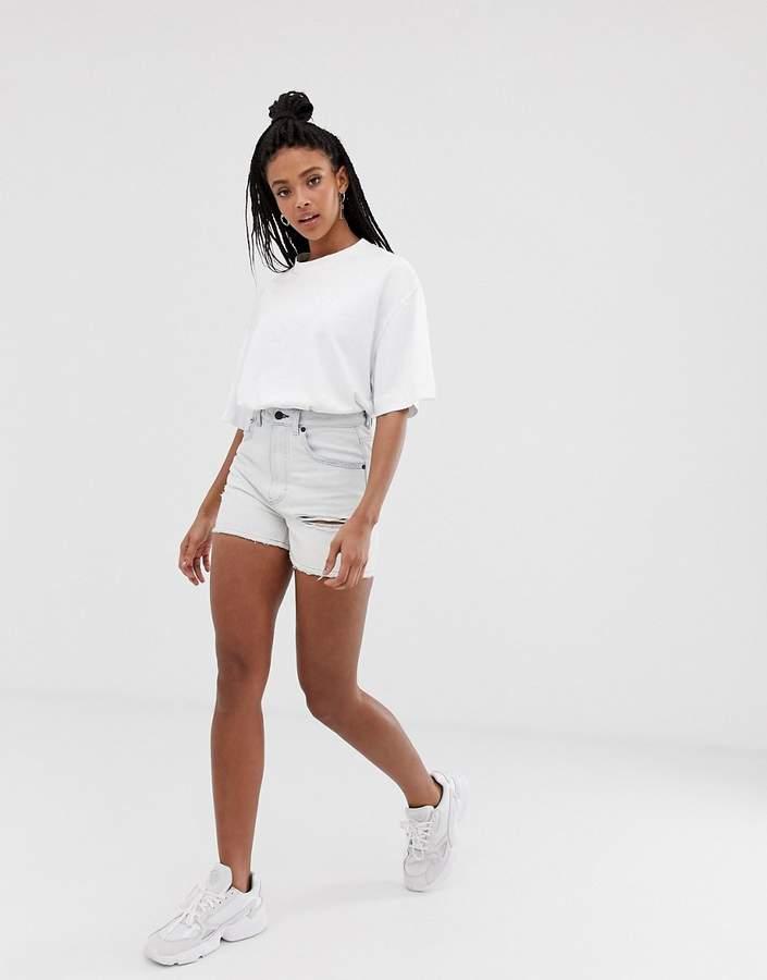29c3568bd1 White Ripped Denim Shorts - ShopStyle UK