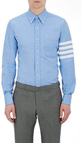 Thom Browne Men's Block-Striped Shirt-LIGHT BLUE