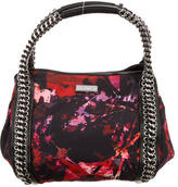 Karen Millen Floral Print Crepe Handle Bag