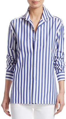 Ralph Lauren Iconic Style Capri Striped Cotton Shirt