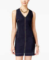 American Rag Zipper-Front Denim Bodycon Dress, Only at Macy's