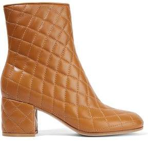 Gianvito Rossi 60 Quilted Leather Ankle Boots