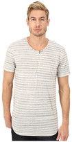 7 For All Mankind Short Sleeve Stripe Henley