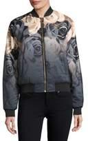 Puma Floral-Print Bomber Jacket