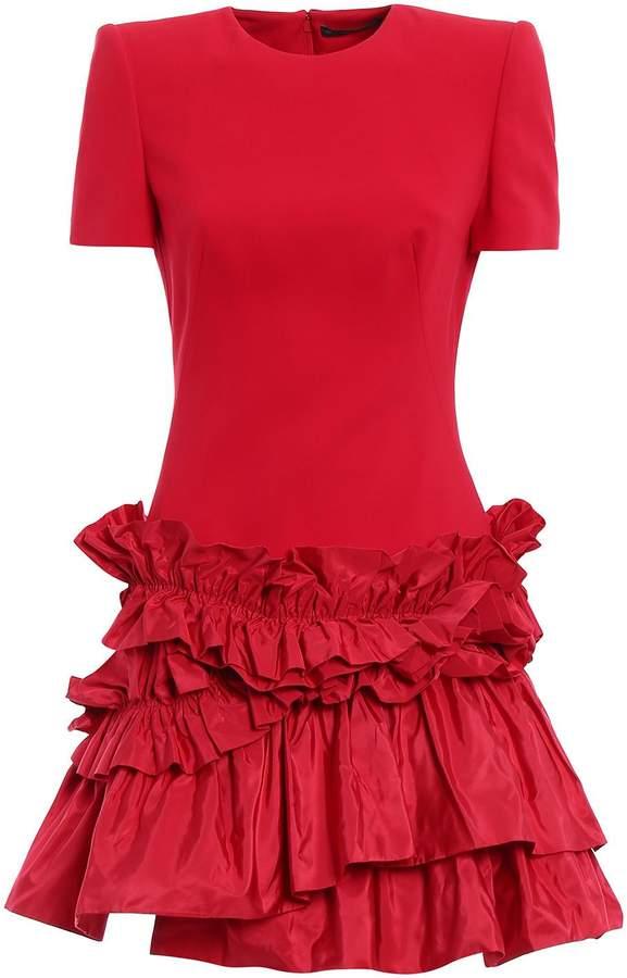 Alexander McQueen Ruff Mini Dress
