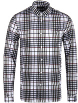 Fred Perry Twill Check White Long Sleeve Shirt