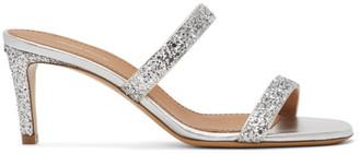 Mansur Gavriel Silver Glitter Fino Sandals