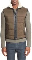 Belstaff Men's 'Fyfield' Vest With Genuine Shearling Trim