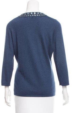 Oscar de la Renta Cashmere & Silk-Blend Knit Sweater
