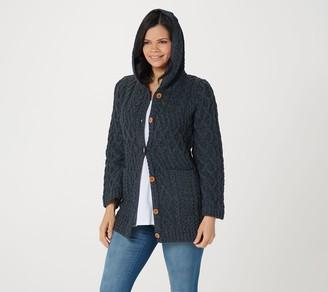 Kilronan Merino Wool Bell Sleeve Sweater Cardigan