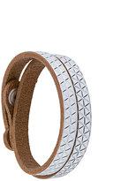 Diesel geometric embossed bracelet