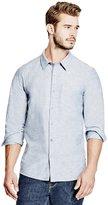 GUESS Men's Knot Chambray Slim Shirt