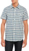 Lucky Brand Short Sleeve Linen Workwear Shirt