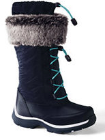 Classic Girls Snowflake Boots-Silver