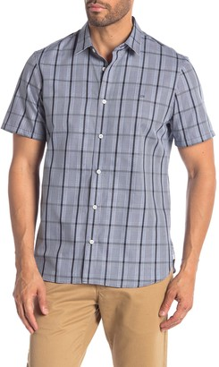 Calvin Klein Plaid Printed Short Sleeve Modern Fit Shirt