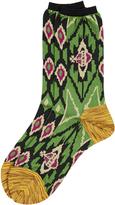 Vivienne Westwood Ikat Socks Green One Size