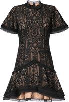 Jonathan Simkhai short sleeved lace detail dress