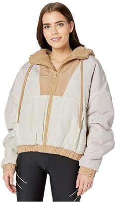 Alo Duality Sherpa Jacket (Putty/Pristine/Soft Pink) Women's Clothing