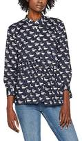 Peter Jensen Women's Asymmetric Frill Smock Shirt,(Manufacturer Size: Large)