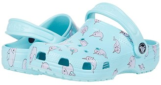 Crocs Classic Majestic Creature Clog (Toddler/Little Kid) (Ice Blue) Girl's Shoes