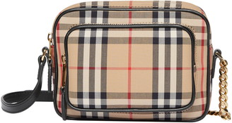 Burberry Vintage Check Crossbody Camera Bag