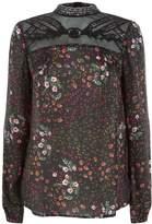 SET Lace Floral Printed Blouse