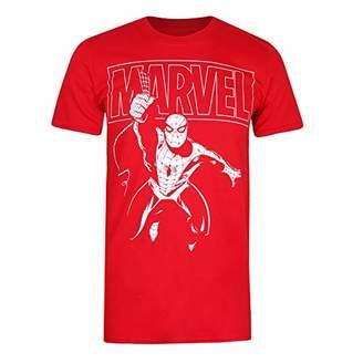 Marvel Men's Spiderman Logo Swing T-Shirt,Large (Size:Large)