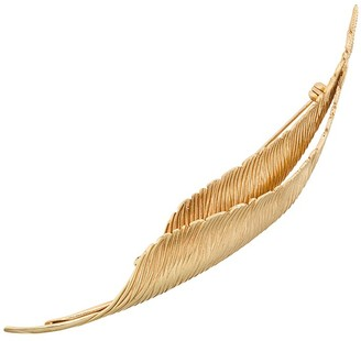 Christian Dior Pre-Owned Double Feathers Brooch