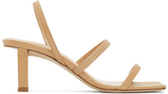 BY FAR Beige Liu Heeled Sandals