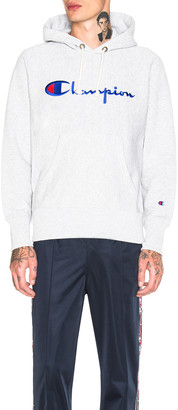 Champion Reverse Weave Hooded Sweatshirt in Grey | FWRD