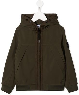 Stone Island Junior Zip-Up Hooded Jacket