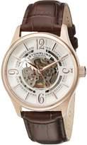 Stuhrling Original Men's 992.04 Legacy Analog Display Automatic Self Wind Brown Watch