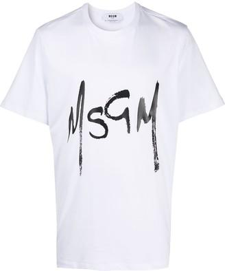 MSGM brushed logo T-shirt