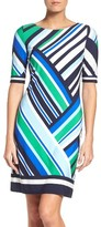 Eliza J Women's Geometric Stripe Sheath Dress