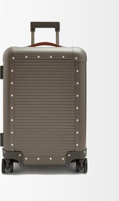 Fabbrica Pelletterie Milano Spinner 53 Stud-embellished Cabin Suitcase - Grey