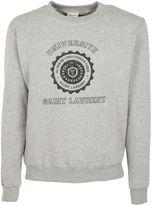 Saint Laurent Gray/black University Seal Print Hoodie