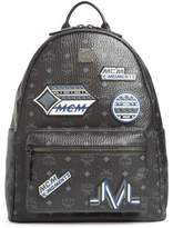 MCM Stark Visetos Patch Faux Leather Backpack